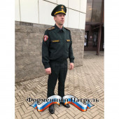 Костюм РОСГВАРДИЯ офисный, длинный рукав, сосна габардин