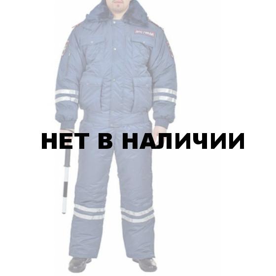 Костюм ДПС зимний с нов. нашивками светло-синий окс/файб 200