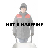 Куртка ЖЕНСКАЯ зимняя УРАЛ цвет: темно-серый/красный