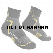 Носки MID DISTANCE SOCKS Black/Yellow, 29TBY