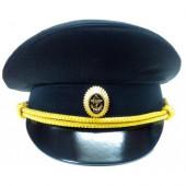 Фуражка МО черная (ткань габардин)