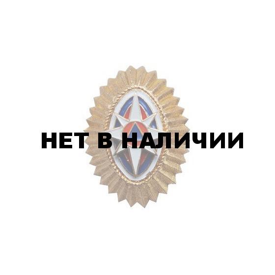 Кокарда МЧС на пилотку нового образца металл