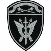 Нашивка на рукав с липучкой Росгвардия Центральный округ СОБР полевая пластик