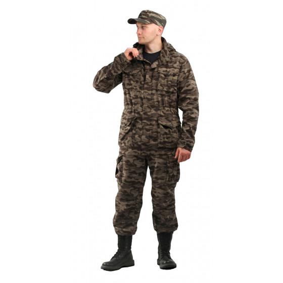 Костюм КАПРАЛ куртка/брюки, цвет:, камуфляж. нато серый, ткань : Твил Пич 210
