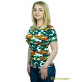 Футболка женская, короткий рукав, Orange Camo