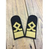Погоны Морского флота 12 категория черные