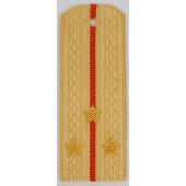 Погоны Береговые части ВМФ вышитые Старший лейтенант повседневные на кремовую рубашку