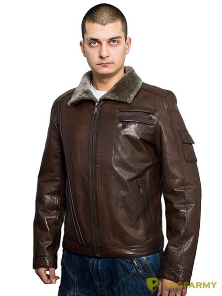 efed569ee8f Куртка кожаная Herrmann натуральный мех