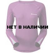 Футболка женская BIONIC L/S ZIP NECK, S berry/silver, FBLZNBERB0