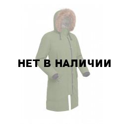 Пальто пуховое женское BASK HATANGA V2 хаки светлый
