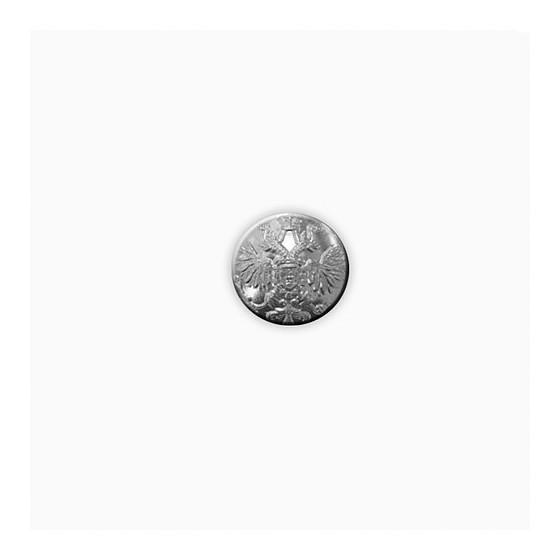 Пуговица Царская серебро 22 мм.