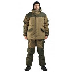 Костюм зимний ГОРКА 3 куртка/брюки, цвет: св.хаки/т.хаки, ткань : Полибрезент