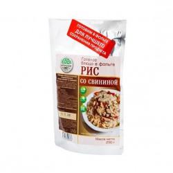 Готовое блюдо Каша рисовая со свининой (Кронидов)