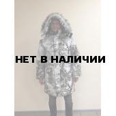 Куртка-парка мужская Тайга зимняя, подклад термофольга, ткань мембрана, цвет, камуфляж Зимний лес
