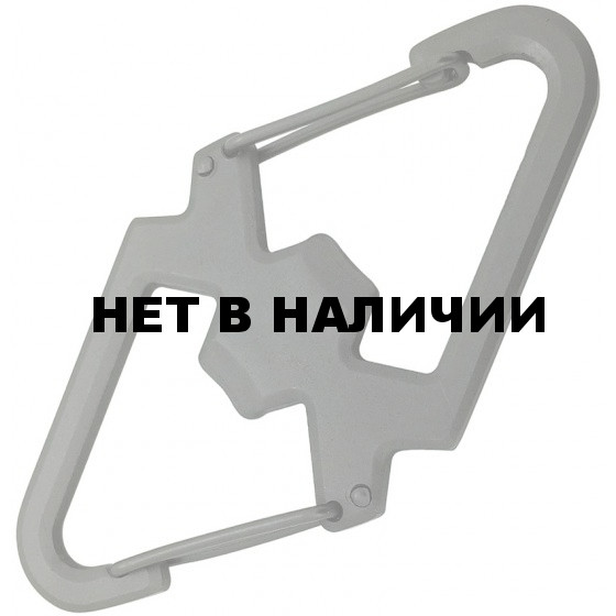 Карабин двойной с открывалкой SS Carabiner with bottle opener (упак=10 шт) - 1 цвет, 3202