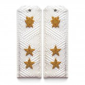 Погоны Юстиция ВМФ генерал-лейтенант парадные на белую рубашку