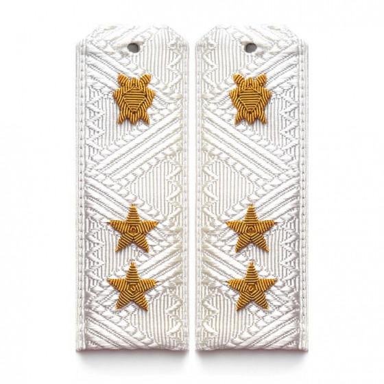 Погоны Юстиция ВВС генерал-лейтенант парадные на белую рубашку
