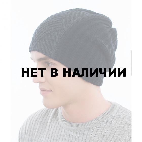 Шапка полушерстянаяmarhatter MYH 6921/2 т. серый / черный