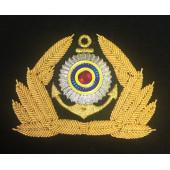 Кокарда ФАМРТ высшая и главная группа должностей госслужащие вышивка канитель краб