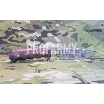 Нож Бизон(латунь,карта),