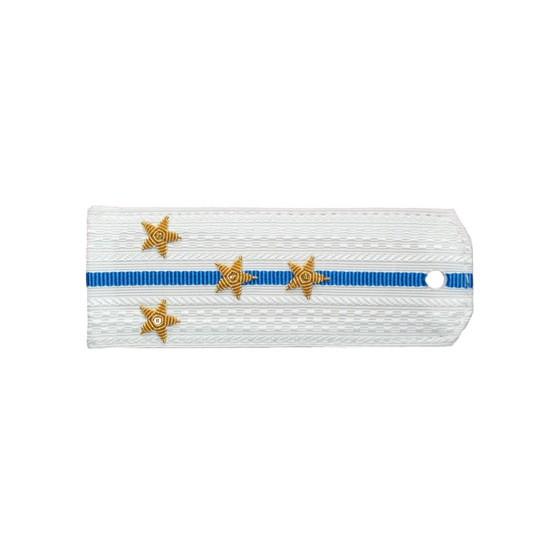 Погоны Авиация ВМФ вышитые Капитан парадные на белую рубашку