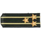 Погоны ВМФ вышитые Капитан 1 ранга повседневные