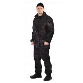 Костюм ГОРКА-ГОРЕЦ куртка/брюки, цвет:, камуфляж, камуфляж чёрный / чёрный, ткань : Грета