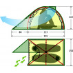 Палатка KAROK 2 Fib green, 9135.2201