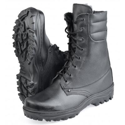 Ботинки с высоким берцем Ратник-Зима на искусственный меху, подошва резина