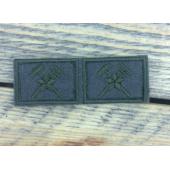 Эмблема петличная полевая Военно-топографическая служба