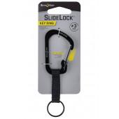 Карабин с блокировкой SlideLock Key Ring, размер 3, чёрный (Nitelze)