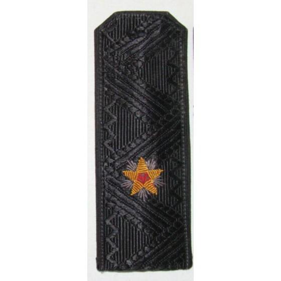 Погоны контр-адмирал ВМФ с хлястиком повседневные
