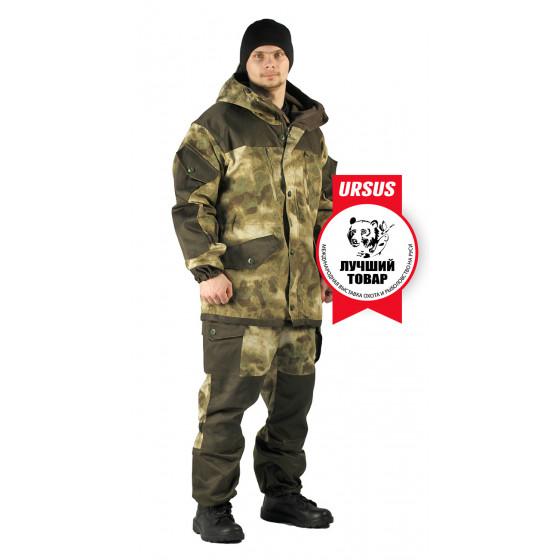 Костюм демисезонный ГОРКА куртка/брюки, цвет:, камуфляж АТАКА ЗЕЛЕНЫЙ, ткань : Твил рип-стоп/Грета