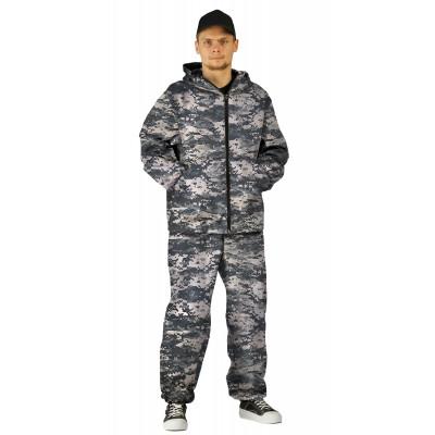 Костюм МАСКХАЛАТ куртка/брюки, цвет:, камуфляж Цифра св.серый, ткань : Сорочечная