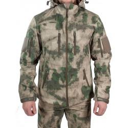 Куртка с капюшоном МПА-26-01 (ткань софтшелл), камуфляж мох