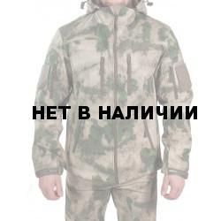 Куртка с капюшоном МПА-26-01 (ткань софтшелл) мох