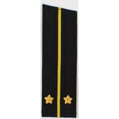 Погоны ВМФ вышитые Лейтенант повседневные на китель со скосом