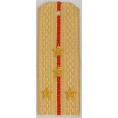Погоны Береговые части ВМФ вышитые Капитан повседневные на кремовую рубашку