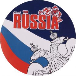 Наклейка RUSSIA триколор сувенирная