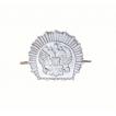 Эмблема петличная для кадетов серебро металл