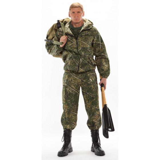 Костюм ТУРИСТ 3 куртка/брюки, цвет:, камуфляж Колючка зеленый, ткань : Грета