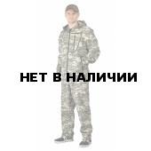 Костюм ТУРИСТ 1 куртка/брюки цвет:, камуфляж Цифра св.серый, ткань : Грета