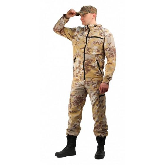 Костюм мужской Турист 1 летний, ткань Тиси сорочечная-облегченная, камуфляж Песок