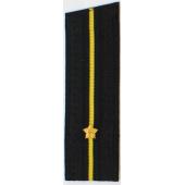 Погоны ВМФ вышитые Младший лейтенант повседневные на китель со скосом