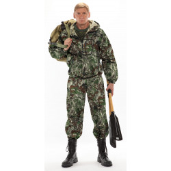 Костюм ТУРИСТ 1 куртка/брюки, камуфляж Сетка зеленый, ткань : Грета