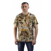 Футболка Собака с фазаном, камуфляж. Мир футболок