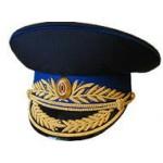 Фуражка генерал ФСБ (ФСО) парадная модельная золото