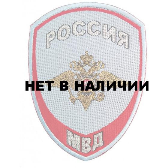 Нашивка на рукав Россия МВД Внутренняя служба на рубашку тканая
