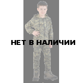 Костюм детский трикотажный ТИгР серо-зеленая цифра 100%х/б
