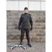 Костюм летний РОСГВАРДИЯ, длинный рукав, черный рип-стоп